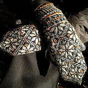 Аксессуары handmade. Livemaster - original item jacquard mittens. Handmade.