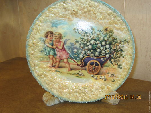 Тарелки ручной работы. Ярмарка Мастеров - ручная работа. Купить Декоративная тарелка      Весеннее настроение. Handmade. Комбинированный, подарок