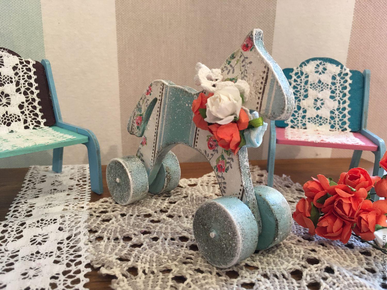 Маленькая лошадка на колёсиках – заказать на Ярмарке Мастеров – DNVIRU | Заготовки для декупажа и росписи, Челябинск
