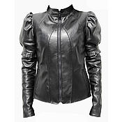 Одежда handmade. Livemaster - original item Leather jacket with flashlights. Handmade.