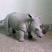 Куклы и игрушки ручной работы. Ярмарка Мастеров - ручная работа Валяный Белый Носорог.. Handmade.