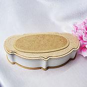 Материалы для творчества handmade. Livemaster - original item Large MDF butterfly box with medallion. Handmade.