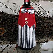 Сувениры и подарки ручной работы. Ярмарка Мастеров - ручная работа Фартук для винной бутылки №2. Handmade.