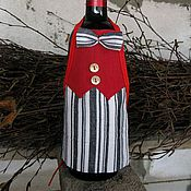 Сувениры и подарки ручной работы. Ярмарка Мастеров - ручная работа Фартук декоративный для винной бутылки №2. Handmade.