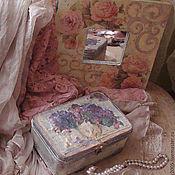 """Для дома и интерьера ручной работы. Ярмарка Мастеров - ручная работа зеркало """"Винтажные розы""""+винтажная шкатулка. Handmade."""