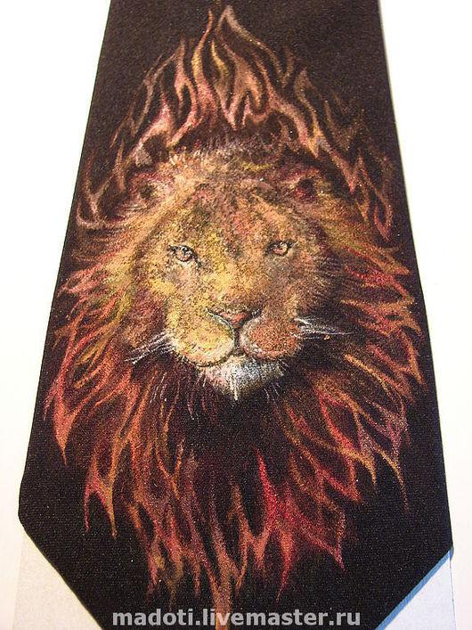 Галстуки, бабочки ручной работы. Ярмарка Мастеров - ручная работа. Купить Лев_мужской галстук. Handmade. Подарок для мужчин, лев