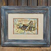 Сувениры и подарки ручной работы. Ярмарка Мастеров - ручная работа Фото рамка  Кузнечик Steampunk. Handmade.