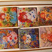 Подарки к праздникам ручной работы. Ярмарка Мастеров - ручная работа керамика на магнитах. Handmade.