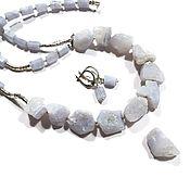 Украшения handmade. Livemaster - original item Necklace Snow.Blue agate sapphire,handmade silver Karen hill. Handmade.