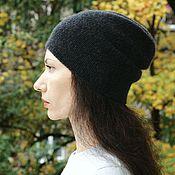 Аксессуары ручной работы. Ярмарка Мастеров - ручная работа Кашемировая шапка вязаная женская, мужская. Handmade.