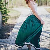 Одежда ручной работы. Ярмарка Мастеров - ручная работа Длинная юбка на заказ. Handmade.