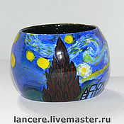 Украшения ручной работы. Ярмарка Мастеров - ручная работа Звездная ночь Ван гога. Handmade.