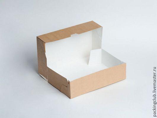 Упаковка ручной работы. Ярмарка Мастеров - ручная работа. Купить ЭКО упаковка для тортов и десертов 230х140х60. Handmade. Коричневый, экоупаковка