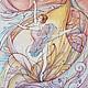 Люди, ручной работы. Ярмарка Мастеров - ручная работа. Купить Балерина 3. Handmade. Коралловый, оранжевый, танец, муза