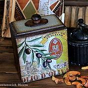 """Для дома и интерьера ручной работы. Ярмарка Мастеров - ручная работа Короб для сыпучих """"Олива"""". Handmade."""