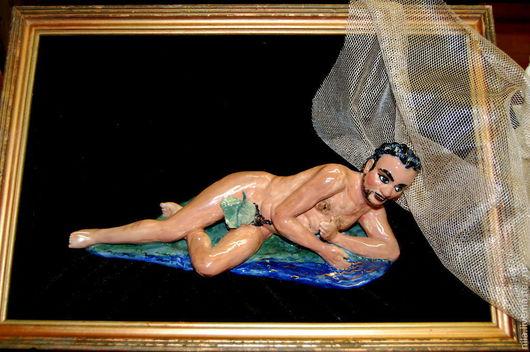 Статуэтки ручной работы. Ярмарка Мастеров - ручная работа. Купить Нарцисс.. Handmade. Скульптура, мужчина, оригинальный подарок, фарфор