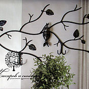 Для дома и интерьера handmade. Livemaster - original item Hangers and hooks: Hanger for the hall Bat. Handmade.