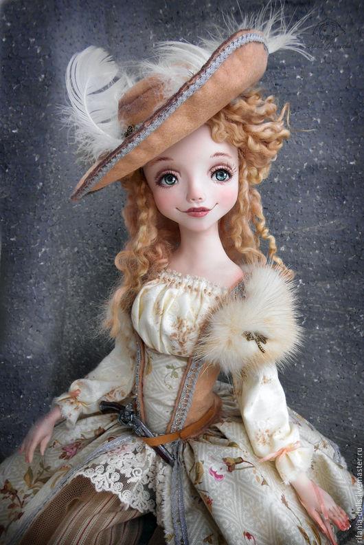 Коллекционные куклы ручной работы. Ярмарка Мастеров - ручная работа. Купить Валерия. Handmade. Бежевый, ручная работа, хлопопк