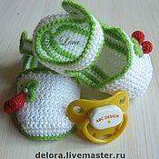 """Работы для детей, ручной работы. Ярмарка Мастеров - ручная работа Пинетки-сандали """"Лето-1"""". Handmade."""