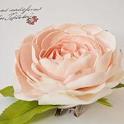 Брошь-булавка ручной работы. Ярмарка Мастеров - ручная работа Брошь с английской розой. Handmade.