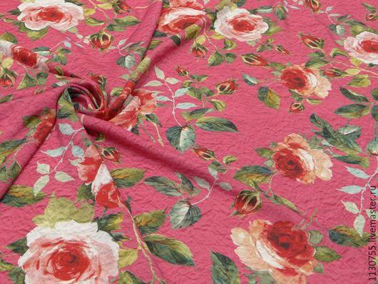 Шитье ручной работы. Ярмарка Мастеров - ручная работа. Купить ткань штапель розы. Handmade. Комбинированный, штапель, ткань штапель