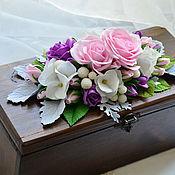 Для дома и интерьера handmade. Livemaster - original item Casket with flowers. Handmade.