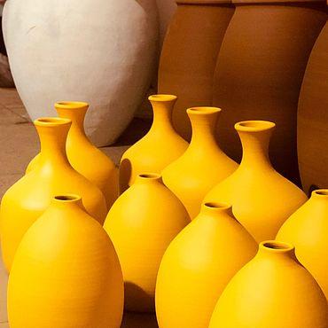 Для дома и интерьера ручной работы. Ярмарка Мастеров - ручная работа Бутылки керамические декоративные. Handmade.