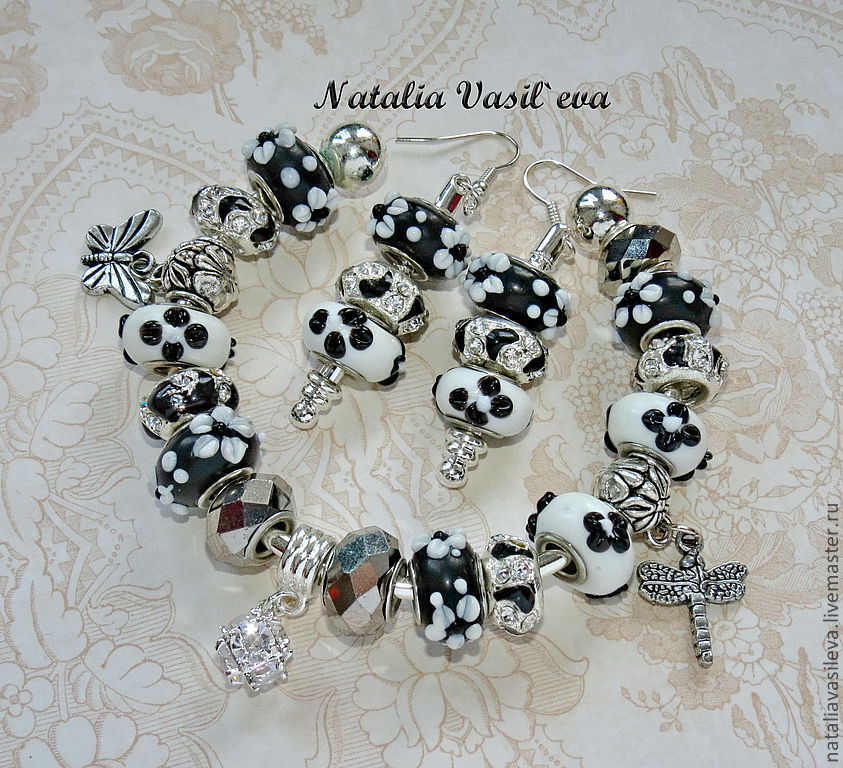 A set of 'Spots' bracelet and earrings, Jewelry Sets, St. Petersburg,  Фото №1
