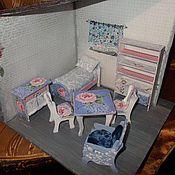 Куклы и игрушки ручной работы. Ярмарка Мастеров - ручная работа Набор кукольной мебели с бельем, декупаж.. Handmade.