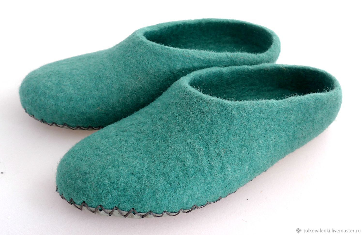 Turquoise Slippers on the sole, Slippers, Ramenskoye,  Фото №1