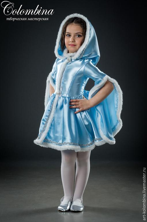 Детские карнавальные костюмы ручной работы. Ярмарка Мастеров - ручная работа. Купить костюм снегурочки. Handmade. Голубой, костюм снегурочки