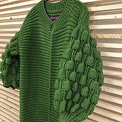 Одежда handmade. Livemaster - original item Bright green cardigan female knitted. Handmade.
