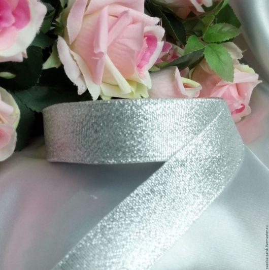 Шитье ручной работы. Ярмарка Мастеров - ручная работа. Купить Лента парча (40 мм) серебро. Handmade. Лента декоративная