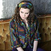 """Одежда ручной работы. Ярмарка Мастеров - ручная работа Жакет """"Радужный"""" из мериносовой шерсти, яркий и жизнерадостный. Handmade."""