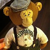 Куклы и игрушки ручной работы. Ярмарка Мастеров - ручная работа Обезьянка выкройка тедди 500 руб в костюме. 300 руб. без костюма. Handmade.