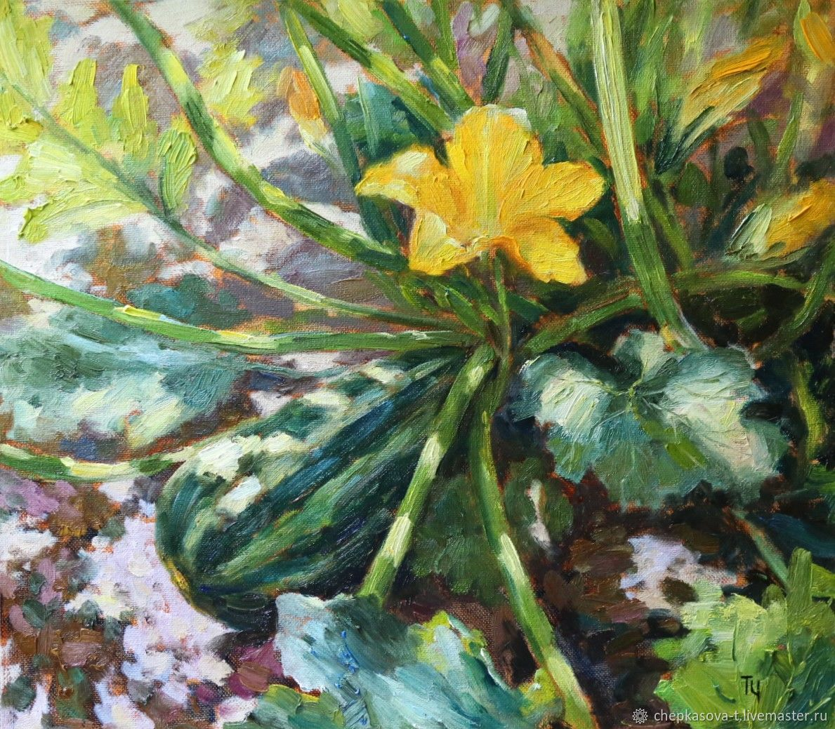Zucchini. Oil painting 35h40 cm, Pictures, Moscow,  Фото №1