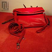 Сумки и аксессуары handmade. Livemaster - original item Clutch bag (red gloss). Handmade.