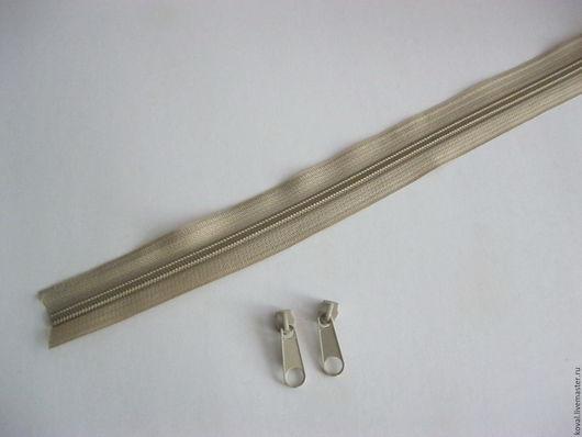 Шитье ручной работы. Ярмарка Мастеров - ручная работа. Купить Молния рулонная + 2 бегунка бесплатно тип 5 беж. Handmade.