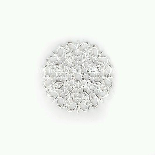 Для украшений ручной работы. Ярмарка Мастеров - ручная работа. Купить Филигрань круглая малая. Handmade. Материалы для творчества