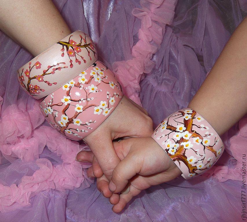 Кулоны, подвески ручной работы. Ярмарка Мастеров - ручная работа. Купить Комплект браслетов Душевное спокойствие Японский стиль. Handmade.