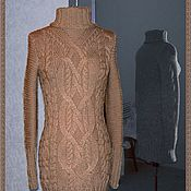 Одежда handmade. Livemaster - original item Dress knitted Coffee. Handmade.