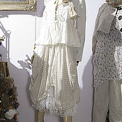 Платья ручной работы. Ярмарка Мастеров - ручная работа Одежда крем, гороховая романтика  летнего вечера. Handmade.
