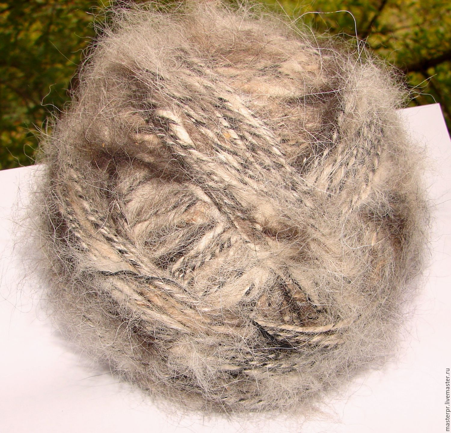 Yarn hand spinning `star of the Caucasus` 150м100гр . 