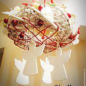 """Подарки к праздникам ручной работы. Ярмарка Мастеров - ручная работа веночек подвесной """"Танец ангелов"""". Handmade."""