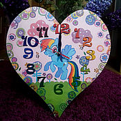 Для дома и интерьера ручной работы. Ярмарка Мастеров - ручная работа Детские часы с любимыми персонажами.. Handmade.