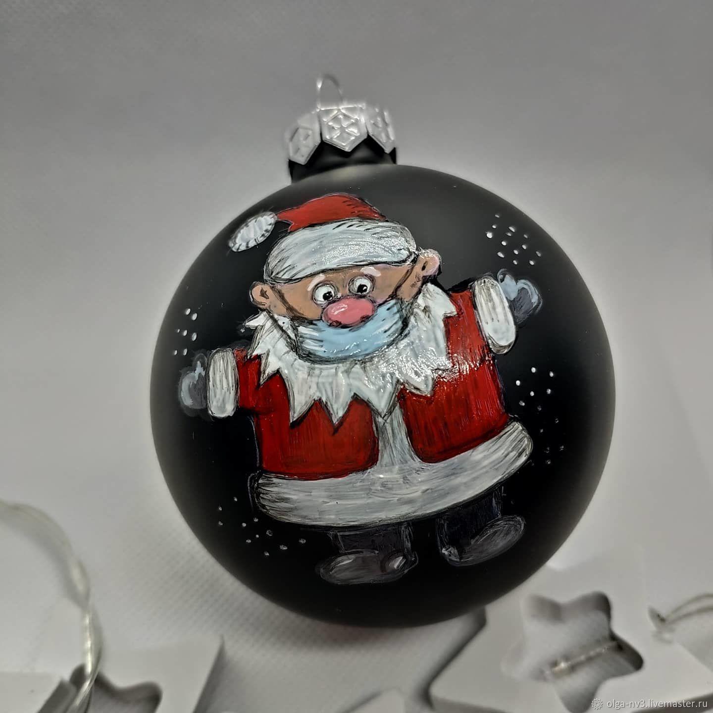Дед Мороз и Дед мороз. Актуальный черный шарик Деды Морозы в масках, Дед Мороз и Снегурочка, Москва,  Фото №1