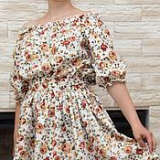 Одежда ручной работы. Ярмарка Мастеров - ручная работа Платье летнее с розами. Handmade.