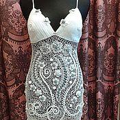 Одежда ручной работы. Ярмарка Мастеров - ручная работа платье из хлопка :Вальс цветов:. Handmade.