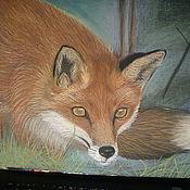 Картины и панно ручной работы. Ярмарка Мастеров - ручная работа лиса рисунок пастелью. Handmade.