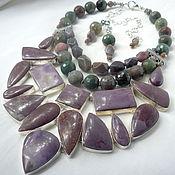 Украшения handmade. Livemaster - original item Necklace 3 strands and Earrings -- Indian AGATE, JASPER beads.. Handmade.